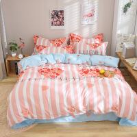 加厚磨毛纯棉四件套1.8床双人网红被套床单2.0全棉床上用品