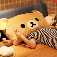 大号轻松熊枕头抱枕 单人枕双人枕 含蕊-可拆洗