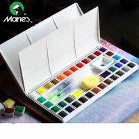包邮 马利18 24 36色固体水彩颜料套装 初学者透明盒装手绘设计