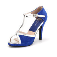 菲伯丽尔Fondberyl绒面羊皮凉鞋超高搭扣金属凉鞋FB52111665
