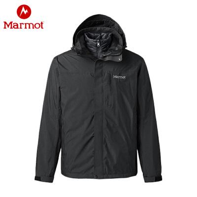 13号0点: 999元包邮  Marmot 土拨鼠 MemBrain L47390 男款650蓬鹅绒羽绒三合一冲锋衣