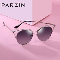 帕森偏光太阳镜女士猫眼个性镂空金属大框架潮墨镜驾驶镜9900