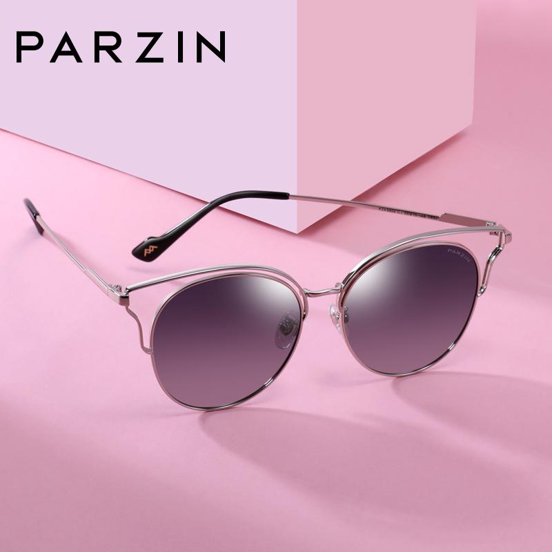 帕森偏光太阳镜女士猫眼个性镂空金属大框架潮墨镜驾驶镜9900 金属大框 复古猫眼 镂空镜框