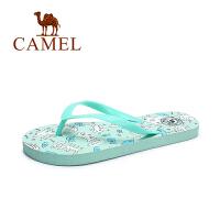 camel骆驼女鞋 夏季新款甜美可爱人字拖女 沙滩防滑平跟拖鞋