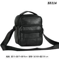 男单肩斜挎包小挂包男背包休闲竖款迷你包 黑色S5114 通用