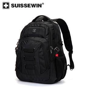 【SUISSEWIN旗舰店 支持礼品卡支付】男士商务背包电脑包户外出行背包大容量多功能背包