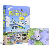 Usborne原版英文 Wind Up Plane Book 大开本儿童玩具飞机四条轨道书英语版 英文原版图书