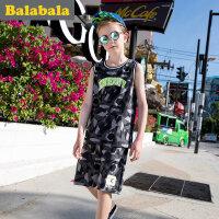 巴拉巴拉童装男童短袖套装男夏中大童2017新款儿童两件套半袖