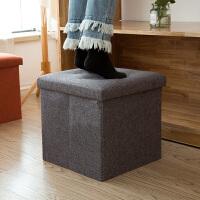 收纳凳储物凳子可坐折叠家用沙发儿童玩具凳换鞋凳布艺