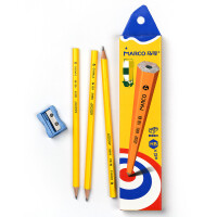 马可8005黄杆铅笔 HB学生书写铅笔 作业铅笔 无橡皮头 12支装