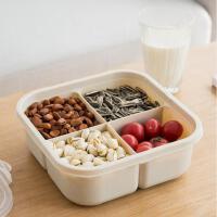 智米可手提多功能果盒 简约分格带盖密封干果盒 塑料PP糖果盘果盒