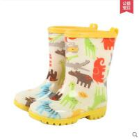 时尚韩版儿童防水雨鞋男女童户外速干防滑中筒雨靴学生橡胶底雨靴 可礼品卡支付