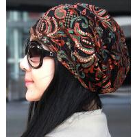 新款透气超薄蕾丝头巾帽 时尚女士堆堆帽空调帽光头帽女帽