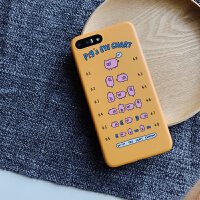 苹果xsmax创意猪猪手机壳iphone6s卡通保护套7/8plus视力表xr
