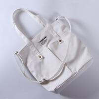 日本同款帆布包手提袋女单肩包女包 斜挎包女简约百搭书包女加厚