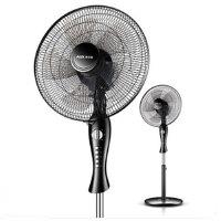 奥克斯 电风扇落地家用宿舍台立式风扇机械静音摇头定时 五叶扇片 电风扇