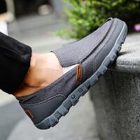 夏季帆布鞋一脚蹬套脚鞋子休闲大码男鞋45码46百搭老北京布鞋夏款夏季百搭鞋