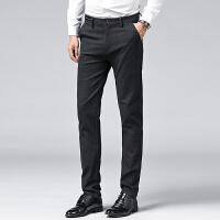 verhouse 冬季新款商务百搭小直筒长裤时尚修身男士磨毛休闲裤