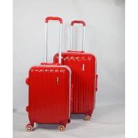 大红色拉杆箱万向轮行李箱铝框结婚陪嫁箱子新娘旅行箱女密码箱潮
