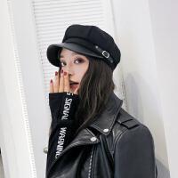 帽子女八角帽秋冬季韩版休闲百搭英伦日系贝雷帽时尚复古军帽街头