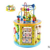 儿童木制大号多功能益智大绕珠百宝箱婴幼儿早教智力开发亲子玩具