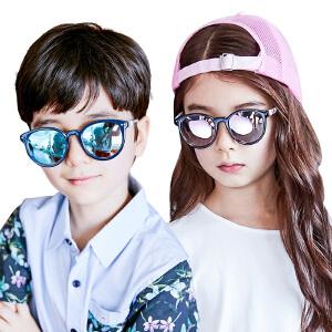 【1件9折 2件8折】kocotree2017年新款儿童眼镜墨镜潮男女童偏光太阳镜个性舒适宝宝墨镜
