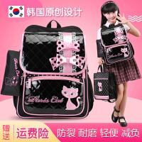 韩国小学生书包女1-34-6一六年级超轻便防水减负耐脏儿童双肩背包