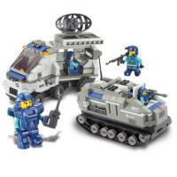 小鲁班军事积木儿童环保塑料拼插积木男孩6-8-10岁起益智模型玩具