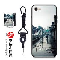 iphone6s手机壳挂绳女款苹果6手机套硅胶防摔苹果六保护套彩绘软套AD