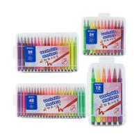 晨光文具6角软头水彩笔 可水洗儿童美术涂鸦绘画笔 901B2(12色)901B3(24色)901B4(36色)901B