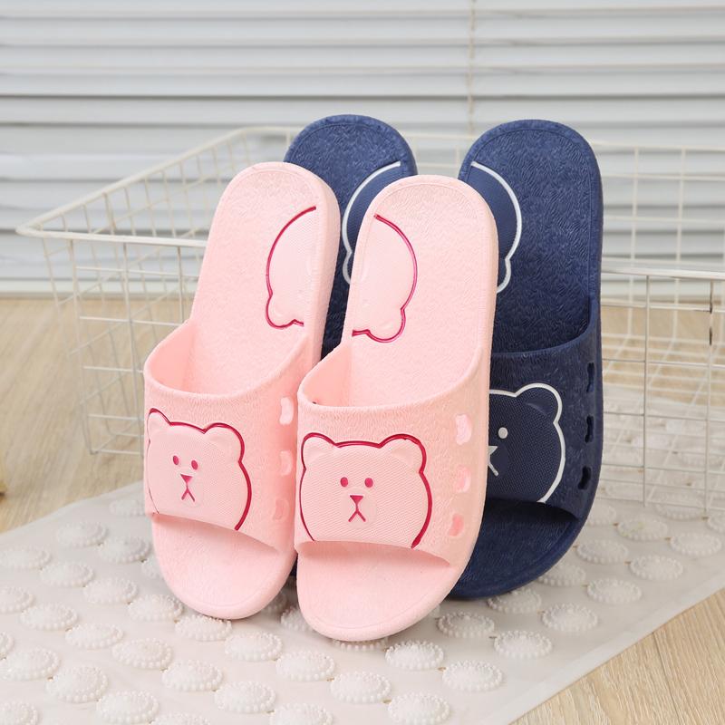 室内拖鞋夏季新款家居室内洗澡情侣拖鞋防滑脱鞋卡通女拖室外女凉托鞋