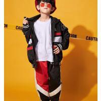 少儿街舞服装嘻哈男童秋冬装外套儿童演出服套装hiphop衣服男孩潮