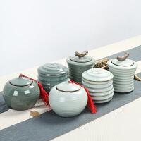 茶具茶叶包装盒哥窑茶叶罐普洱密封存储罐大小号 汝窑陶瓷茶叶罐 CYG21