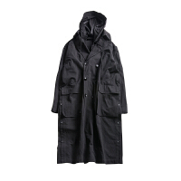 男士风衣中长款超长过膝披风斗篷oversize大衣ins超火的情侣外套 预售 9.30发