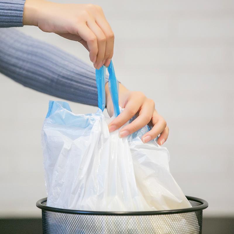 网易严选 垃圾袋抽绳式垃圾袋 20只/卷 共3卷 轻松抽口,3色分类