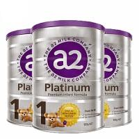 【1段】保税区发货/直邮 A2 Platinum艾尔 白金版婴儿牛奶粉 一段 (0-6个月) 900g*3罐 海外购