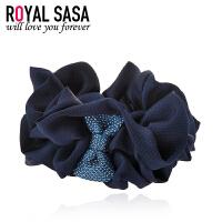 皇家莎莎RoyalSaSa手工布艺发圈韩式时尚盘发头花发绳发饰韩国扎马尾皮筋头绳