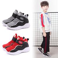 春秋新款儿童高帮运动鞋韩版中大童休闲鞋男童女童透气篮球鞋