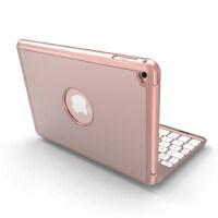 iPad mini2键盘保护套苹果mini4蓝牙键盘壳iPad迷你3超薄套苹果平板ip Mini通用带背光 玫瑰金