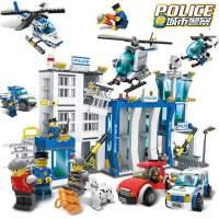 新款 儿童益智玩具插拼组装车积木城市警察总局军事模型拼装