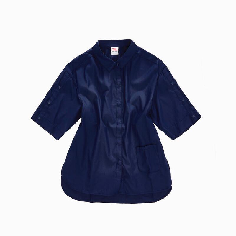【品牌特惠】诺诗兰时尚版型防泼水抗污女式中袖搭配衬衫 诺诗兰品牌大促