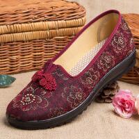 老北京布鞋女夏季中老年人凉鞋奶奶鞋子夏妈妈防滑软底老人太太鞋 35 女款