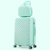 时尚子母箱拉杆箱万向轮旅行箱登机箱行李箱20