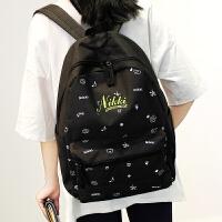 双肩包女韩版学院风可爱印花背包休闲书包中学生女小清新旅行包潮