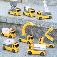 小汽车玩具益智磁力拼装消防车推挖土机搅拌车垃圾工程车套装