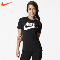 NIKE耐克2018年新款女子舒适透气圆领运动休闲短袖T恤829748-808