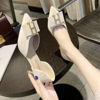 单鞋女2019夏款韩版时尚新款高跟鞋女 细跟女鞋浅口套脚尖头单鞋