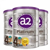 【4段】保税区发货 A2 Platinum艾尔 白金版婴儿牛奶粉新版紫盖 四段 (3岁以上) 900g*3罐 海外购