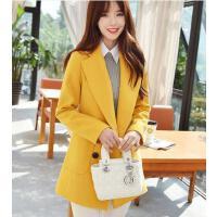 女外套 新款韩版修身中长款外套 小个子女毛呢外套学生学院风加厚呢子大衣