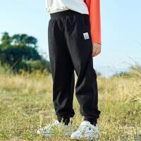 【2件7折到手价:95】小猪班纳童装男童休闲裤20201春季新款儿童棉束脚运动裤纯色长裤